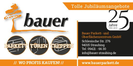Treppen, Türen, Parkett Jubiläumsangebote der Firma Bauer Parkett- und Oberflächenzentrum in Straubing