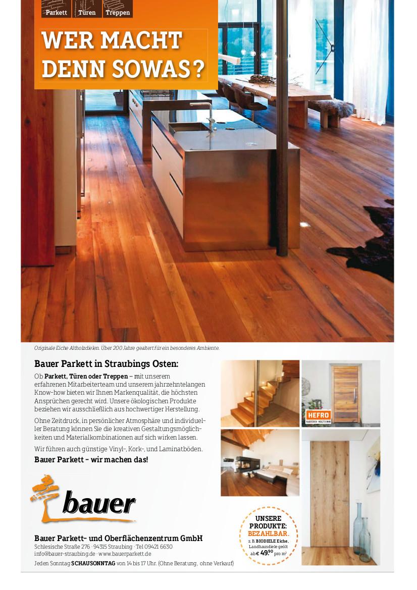 Parkett, Türen, Treppen beste Holzqualität bei Bauer Parkett- und Oberflächenzentrum in Straubing